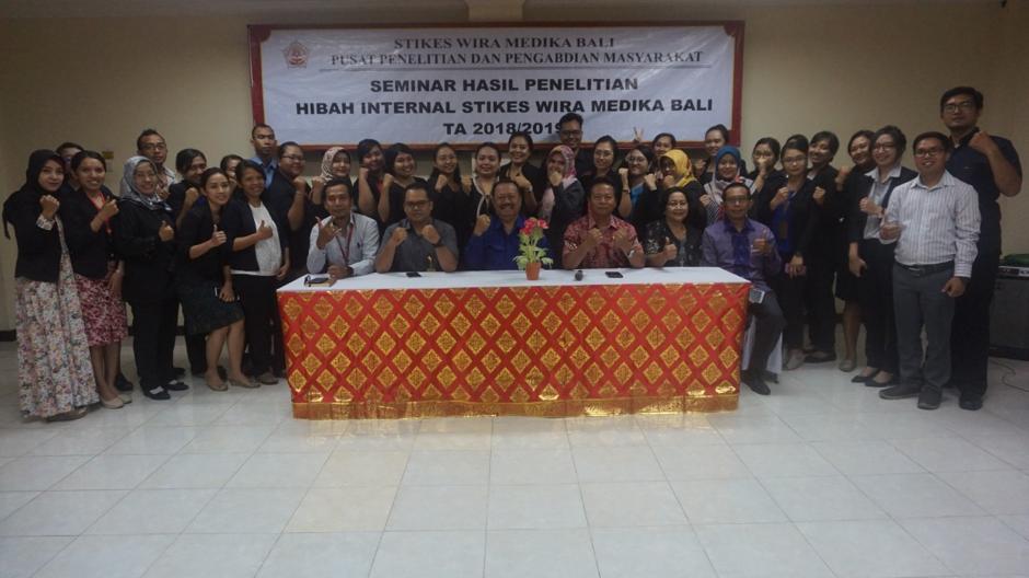 Seminar Hasil Penelitian Dosen Stikes Wira Medika Bali Hibah Internal Tahun 2019
